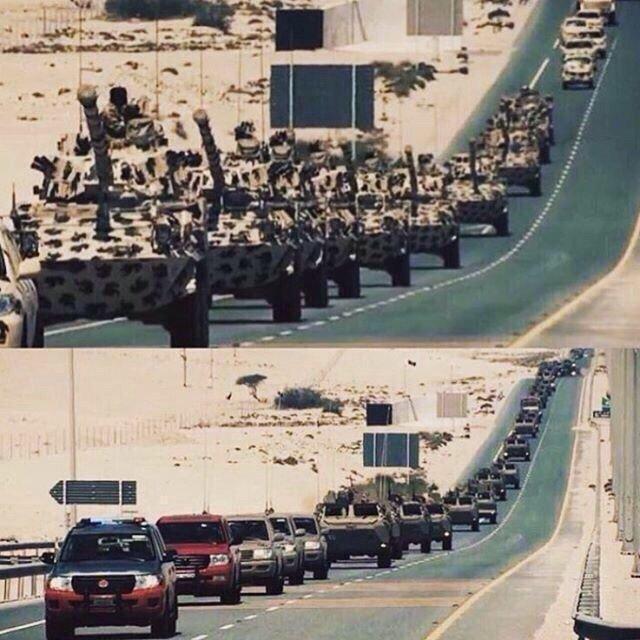 صور متداولة في هاشتاق #جيش_قطر_يتجه_لسحق_الحوثي - صورة ٢
