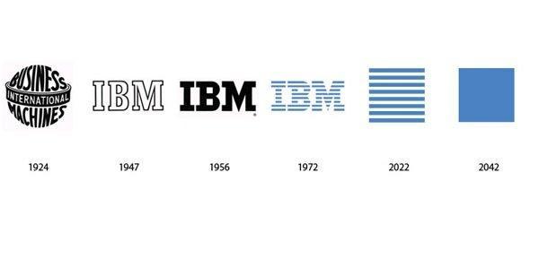 شعار شركة آي بي إم IBM بين الماضي وكيف ستبدو في المستقبل #تقنية
