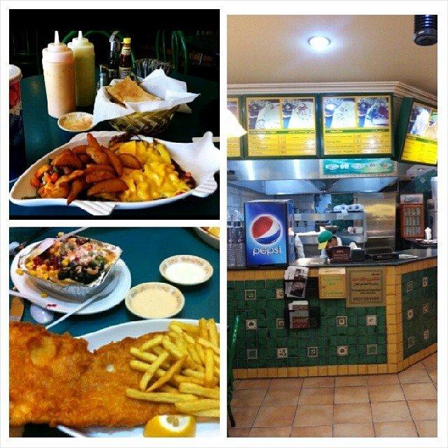 مطعم فيش اند شيبس شارع التحلية #الرياض