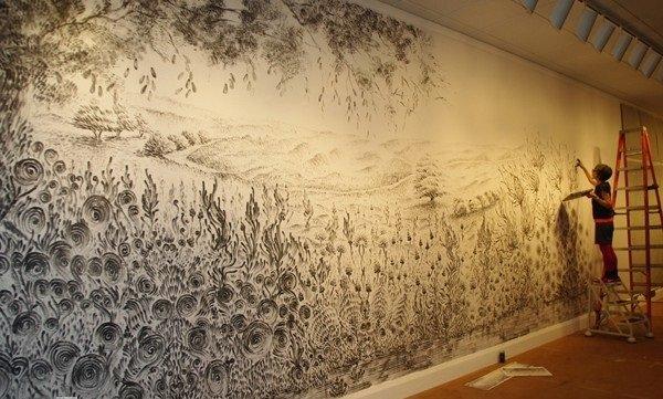 فنانة تقوم برسم لوحات مدهشة بإستخدام أصابعها فقط #غرد_بصورة -5