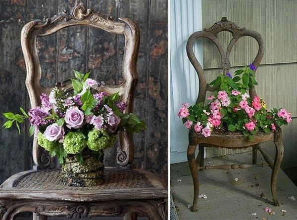 افكار لاعادة تجديد الكراسي ال#قديمة او لاستغلالها في اشياء اخرى صوره 2