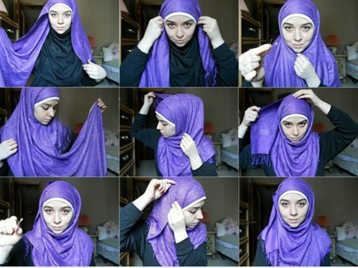طريقة لف #الحجاب للوجه المثلث #موضه #ستايل