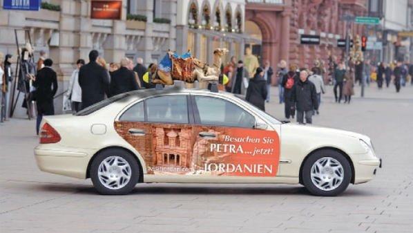 سيارات تجول في أوروبا لتسويق #الأردن سياحيا