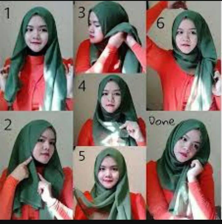 طرق أنيقه للف #الحجاب للوجه الدآئري -6