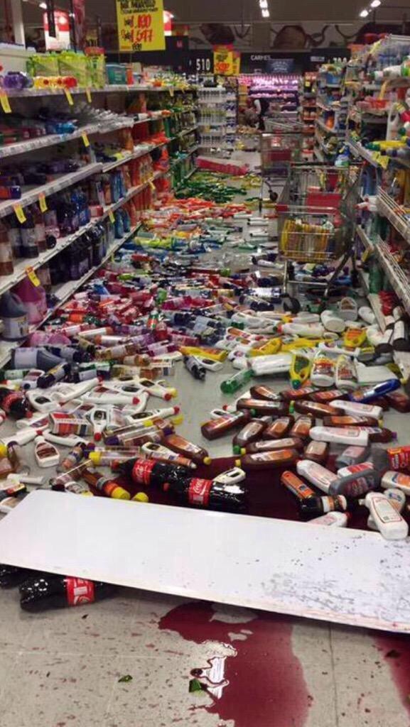 صور أولية متداولة من زلزال تشيلي المدمر #Chile ٤
