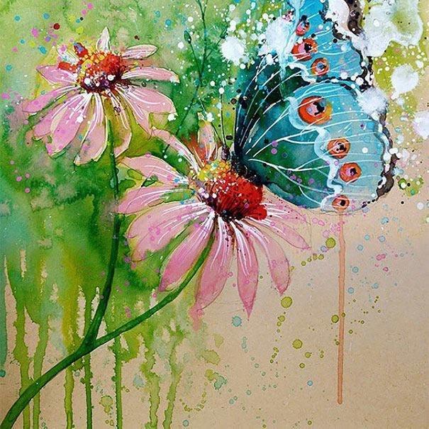 سحر #الألوان_المائية في لوحات الرسام السنغافوري #تيلان_تي #غرد_بصوره 13