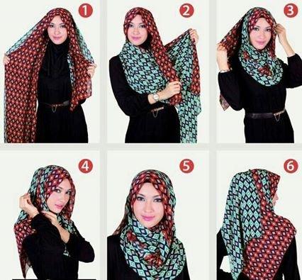 طريقه لف #الحجاب للوجه الصغير #موضه #ستايل -2