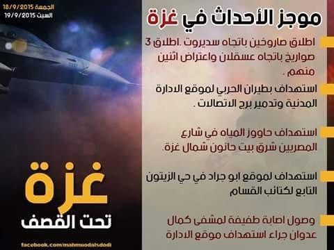 ملخص الأحداث في #غزة حتى الآن #غزة_تحت_القصف