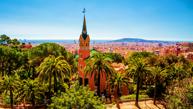 حديقة بارك جويل ب#رشلونة #إسبانيا
