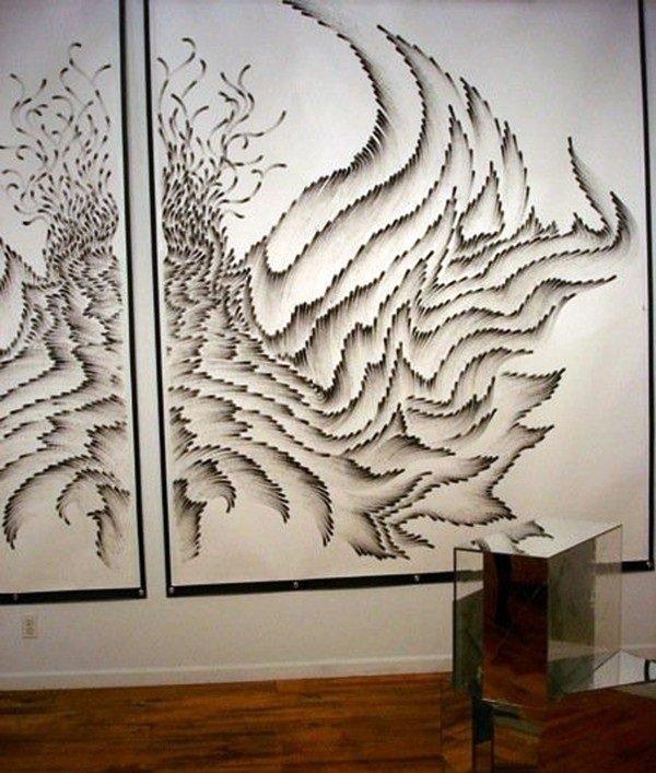فنانة تقوم برسم لوحات مدهشة بإستخدام أصابعها فقط #غرد_بصورة -11