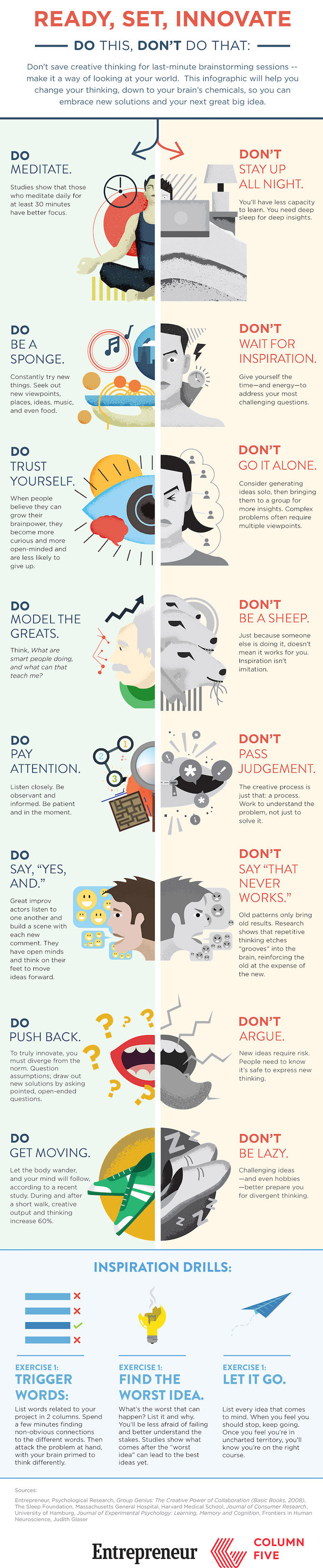 The Best Infographics of 2015 (So Far) - Killing your own creativity #Infographic