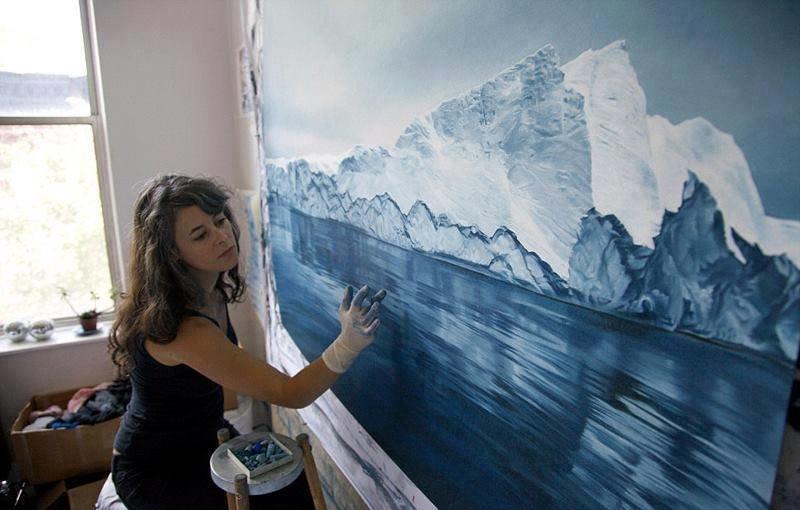 فنانة تقوم برسم لوحات مدهشة بإستخدام أصابعها فقط #غرد_بصورة -1