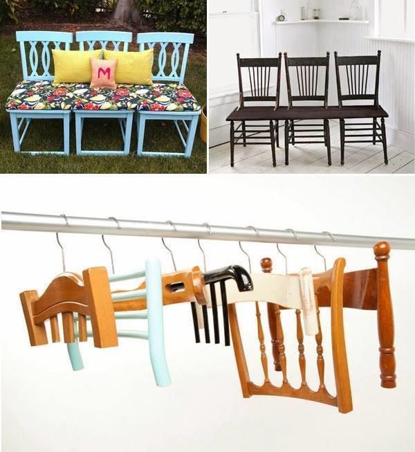 افكار لاعادة تجديد الكراسي ال#قديمة او لاستغلالها في اشياء اخرى صوره 5
