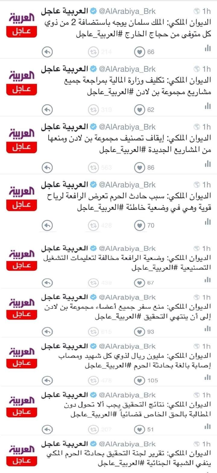 قرارات الديوان الملكي السعودي تجاه مجموعة بن لادن #سقوط_رافعه_الحرم