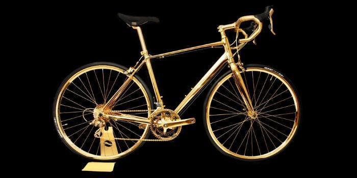 الدراجة الأغلى في العالم من #الذهب عيار 24 ومزيّنة ب 600 قطعة كريستال-1