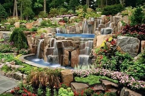 #شلالات صغيرة لتزيين #الحدائق_المنزلية صوره 11