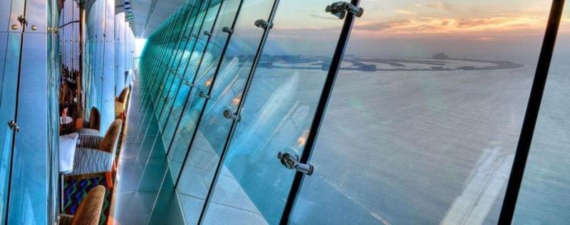 مقهى سكاي فيو - فندق #برج_العرب #دبي