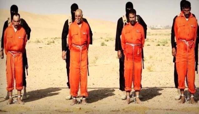 #داعش الارهابية تقتل حرقا ثلاث أخوة ووالدهم من عائلة الكبيسي العراقية - صورة ١