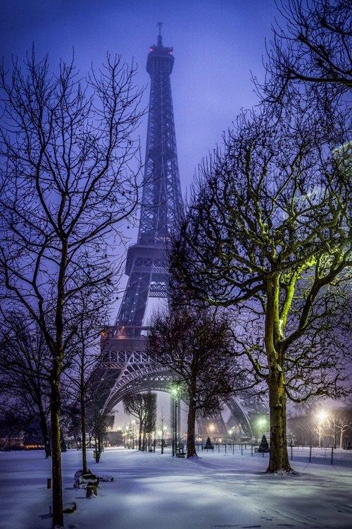 الشتاء في #باريس