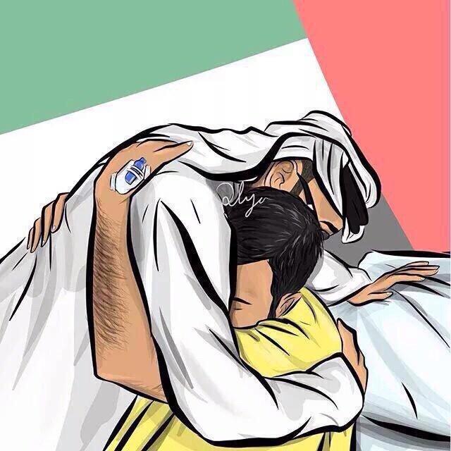#كاريكاتير يصور سمو الشيخ #محمد_بن_زايد يحضن المصابين #الإمارات