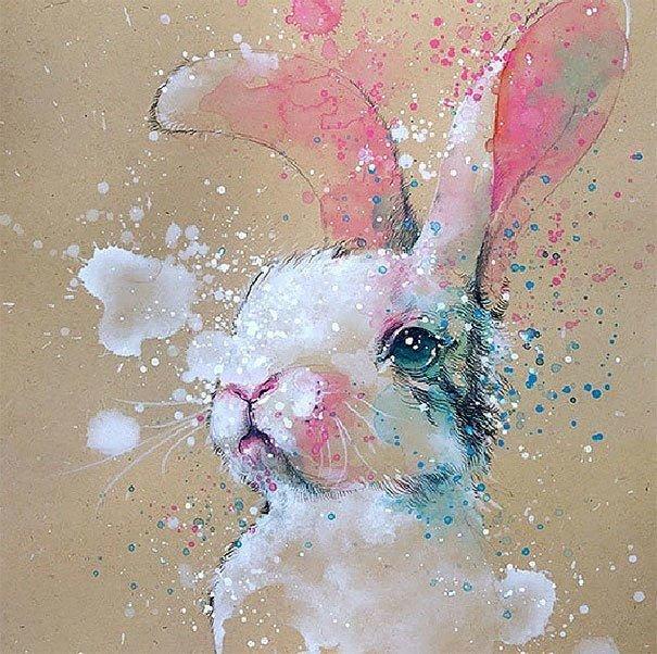 سحر #الألوان_المائية في لوحات الرسام السنغافوري #تيلان_تي #غرد_بصوره 10