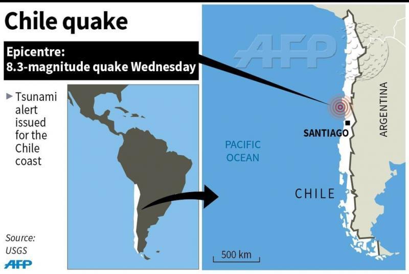 #انفوجرافيك زلزال تشيلي المدمر #Chile
