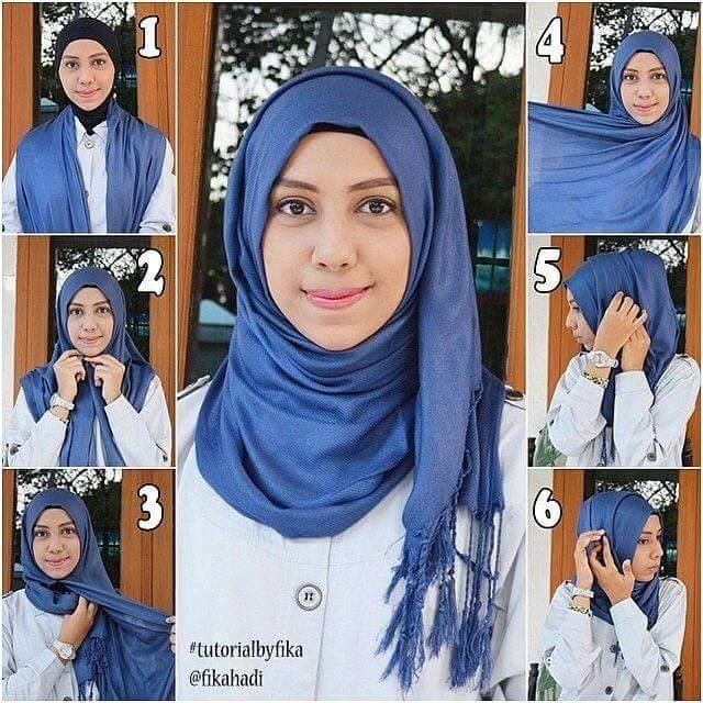 طرق أنيقه للف #الحجاب للوجه الدآئري -4