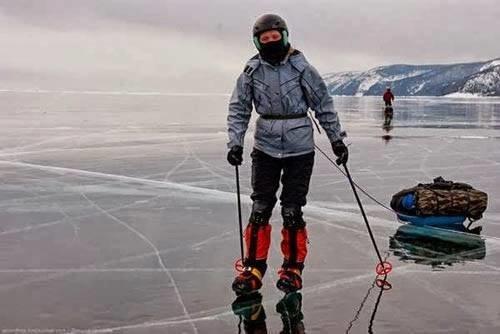 #البحيرة_الفيروزية_المتجمدة  فى #سيبيريا عمرها 25 مليون سنة وعمقها 1700 متر - صورة 6