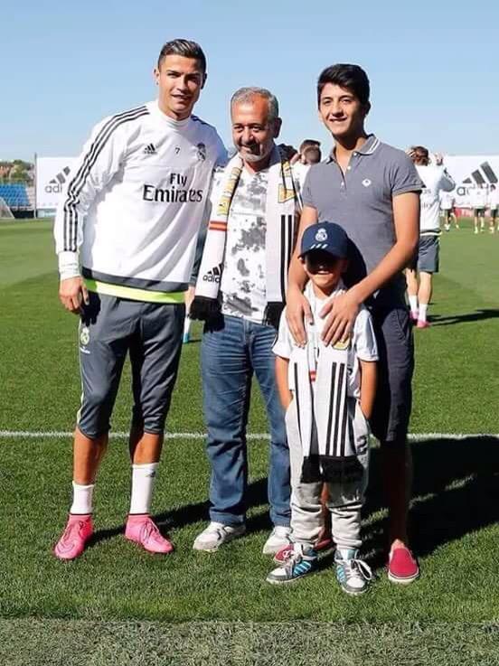 زيد يلتقي بنجمه المفضل #كرستيانو #ريال_مدريد