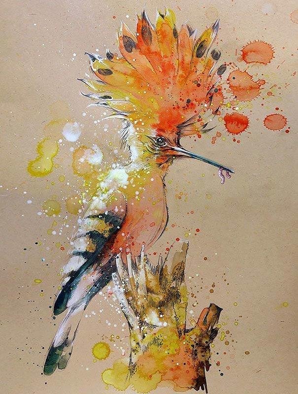 سحر #الألوان_المائية في لوحات الرسام السنغافوري #تيلان_تي #غرد_بصوره 7