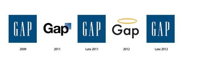 شعار شركة جاب Gap بين الماضي وكيف ستبدو في المستقبل #تقنية