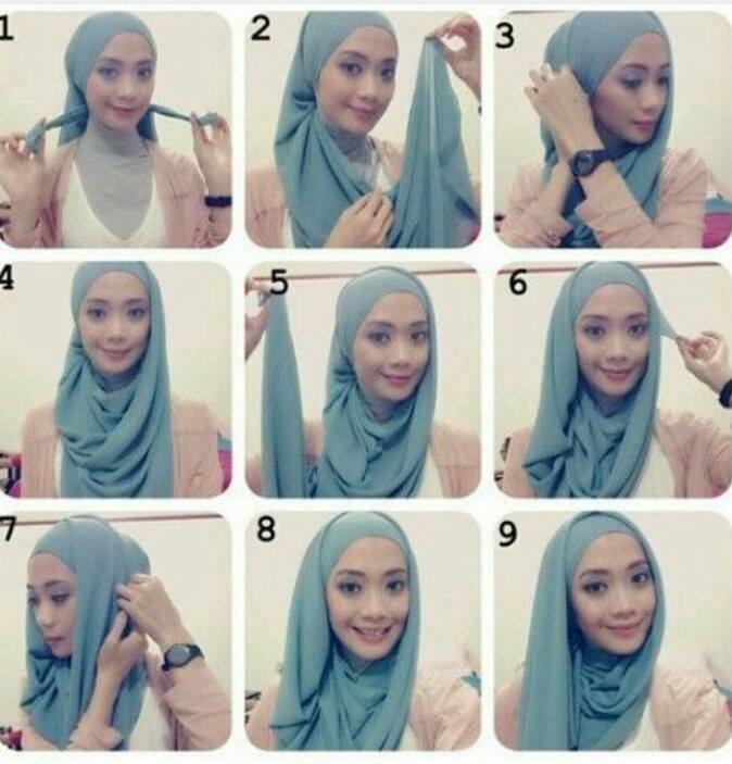 طريقة لف #الحجاب للوجه الطويل #موضه #ستايل -