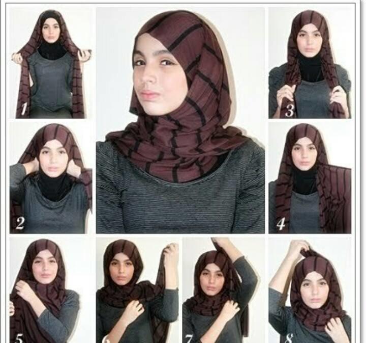 طريقة لف #الحجاب للوجه البيضاوي #موضه #ستايل -