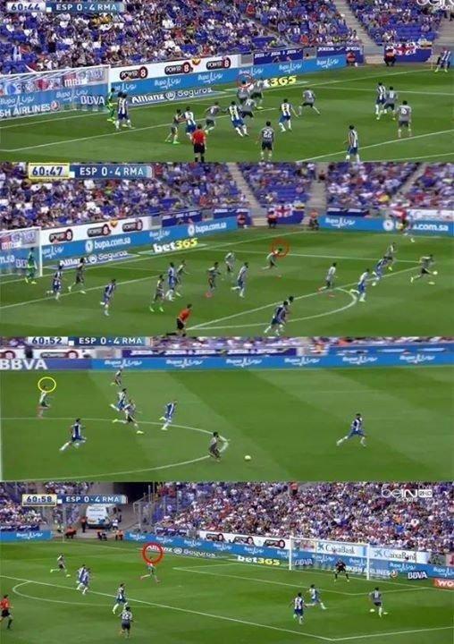 سرعة خيالية من #رونالدو في هدفه الرابع ضد إسبانيول #ريال_مدريد