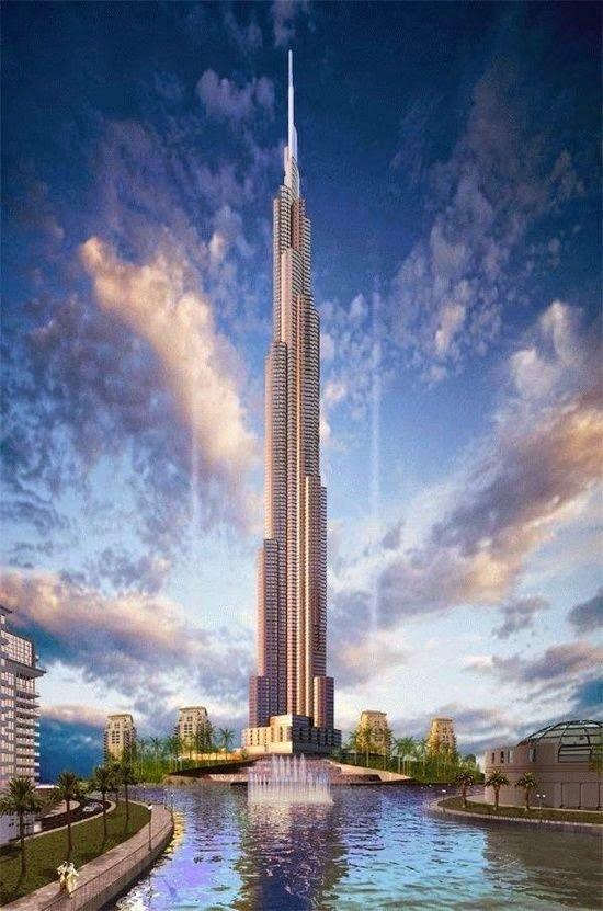 صورة تخيلية ل#برج_خليفة في #دبي قبل بناءه
