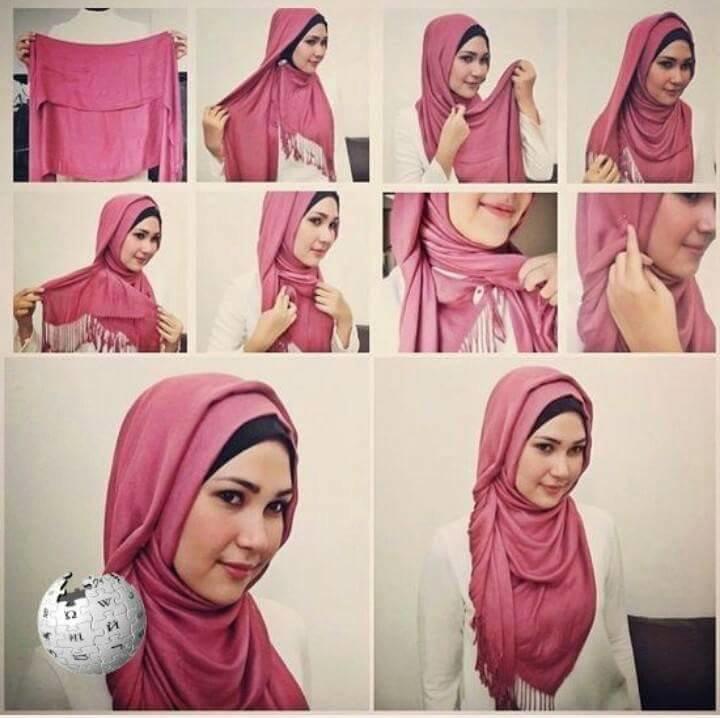 طرق أنيقه للف #الحجاب للوجه الدآئري -5