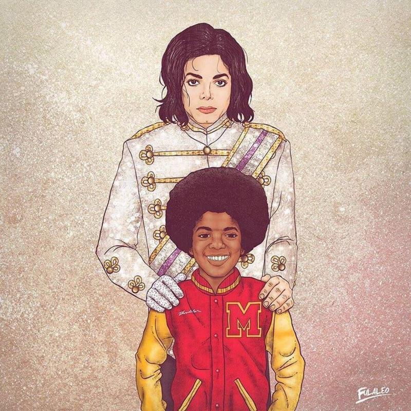 مايكل جاكسون الصغير والكبير