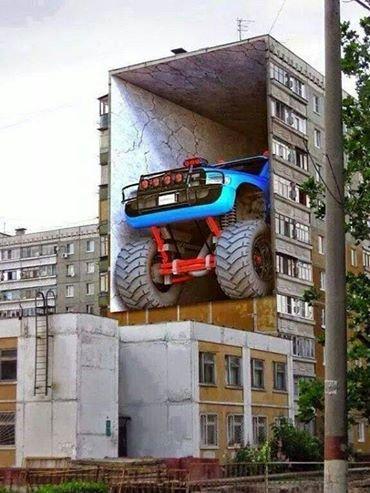 بأبعاد 3D جدران حقيقية مرسومة صورة 9