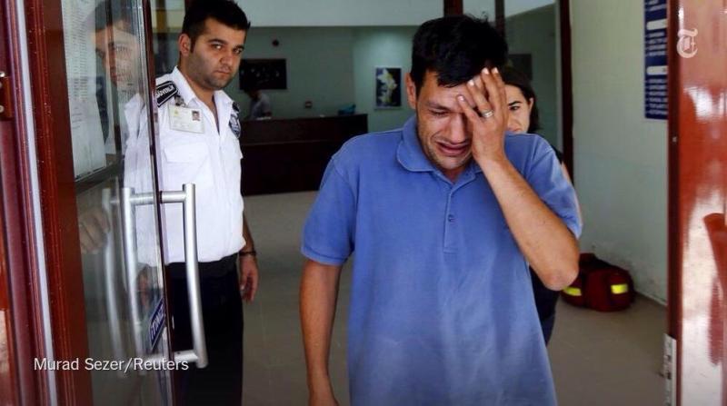 صورة والد الطفل #عيلان_الكردي #غرق_طفل_سوري