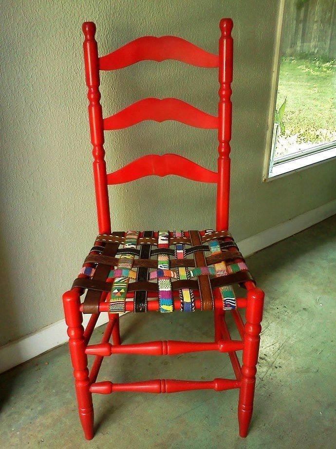 افكار لاعادة تجديد الكراسي ال#قديمة او لاستغلالها في اشياء اخرى صوره 9