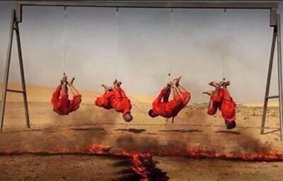 #داعش الارهابية تقتل حرقا ثلاث أخوة ووالدهم من عائلة الكبيسي العراقية - صورة ٣