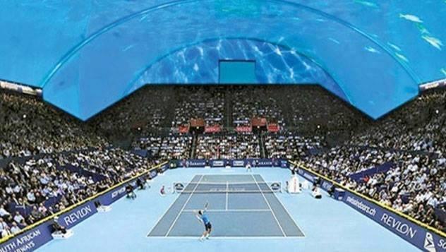 #ملعب_تنس تحت الماء في #دبي صوره 6