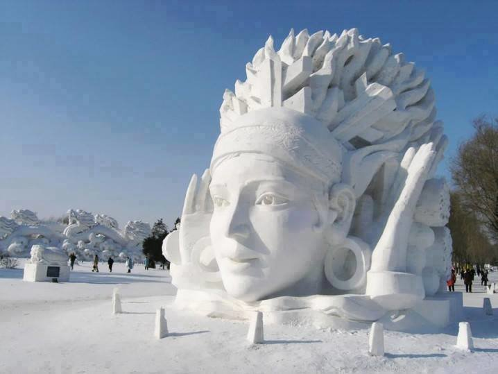#تماثيل_الثلج بين الدقة وضخامة التصاميم #غرد_بصوره 6