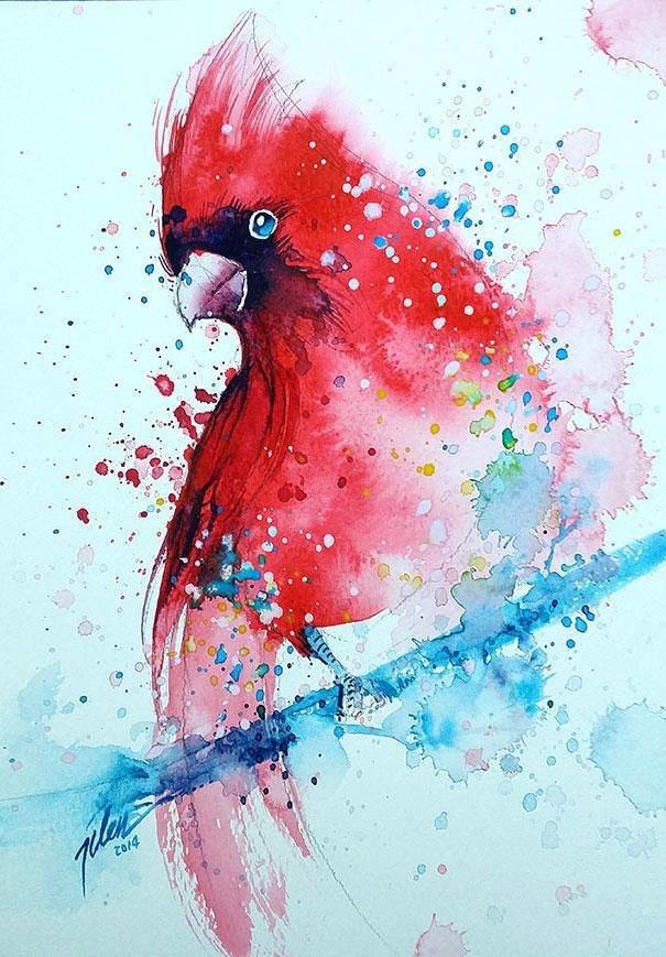 سحر #الألوان_المائية في لوحات الرسام السنغافوري #تيلان_تي #غرد_بصوره 1