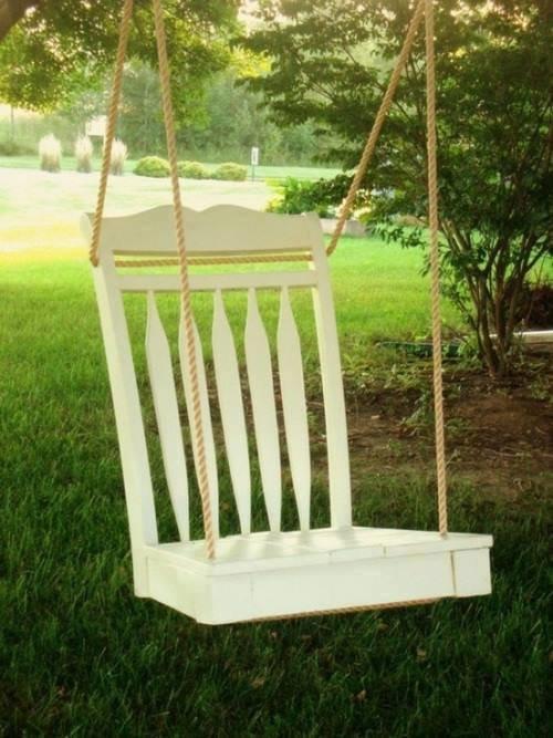 افكار لاعادة تجديد الكراسي ال#قديمة او لاستغلالها في اشياء اخرى صوره 8