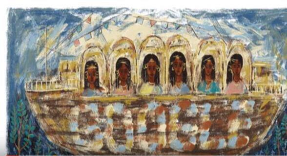 جوجل تحتفل بالفنانة التشكيلية المصرية سودانية المولد تحية حليم 1919- 2003 -3