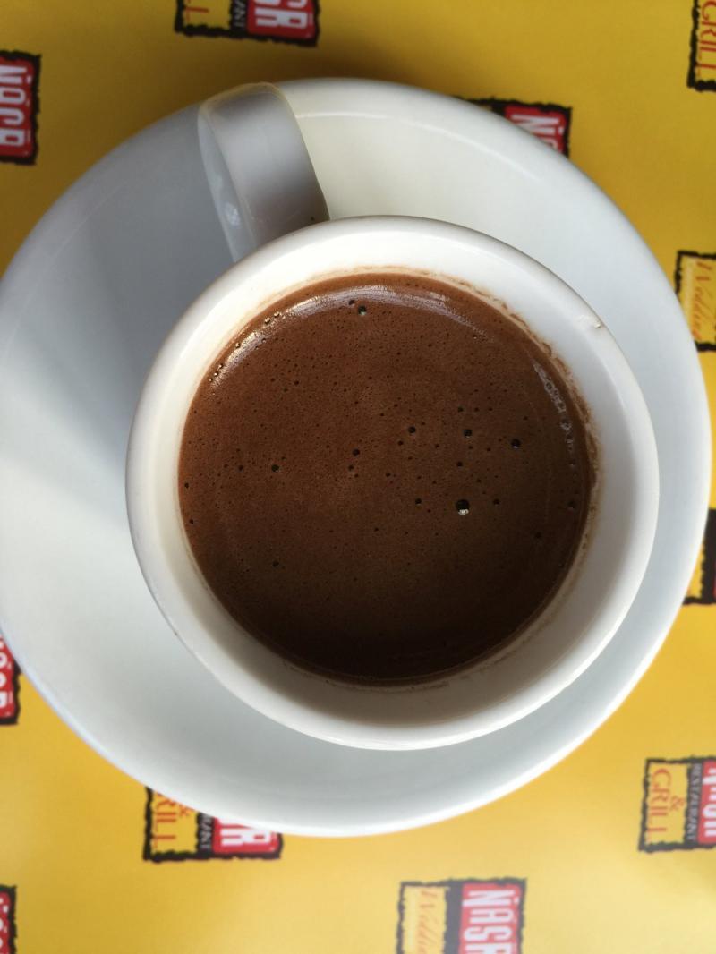 القهوة التركية من مطعم ومشاوي نصر #أبوظبي