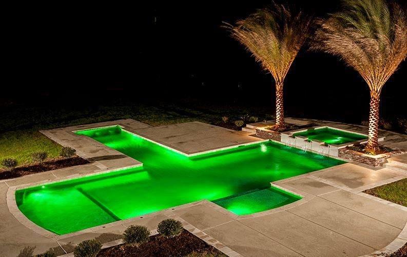 أفكار وتصاميم لإضاءة بركة السباحة #غرد_بصوره صوره 2