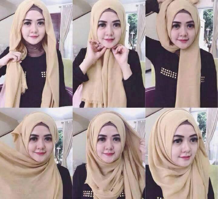 طرق أنيقه للف #الحجاب للوجه الدآئري -3