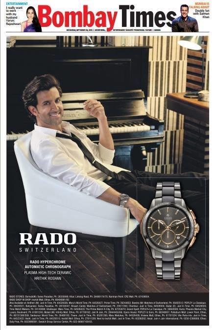 ريتيك روشان على غلاف مجله بومباى تايم اليوم #مشاهير #بوليود
